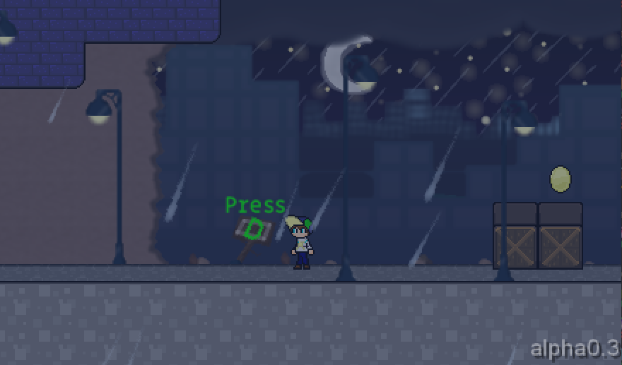 Screenshot of tutorial level Adventure Feeling.